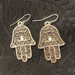 Hand of god earrings